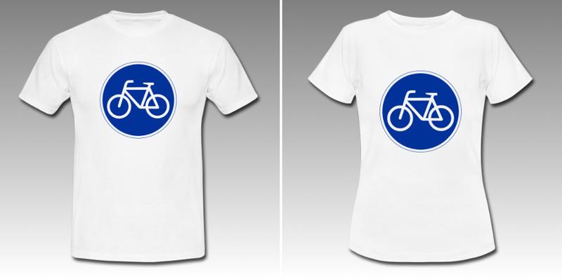 Fahrrad blau.