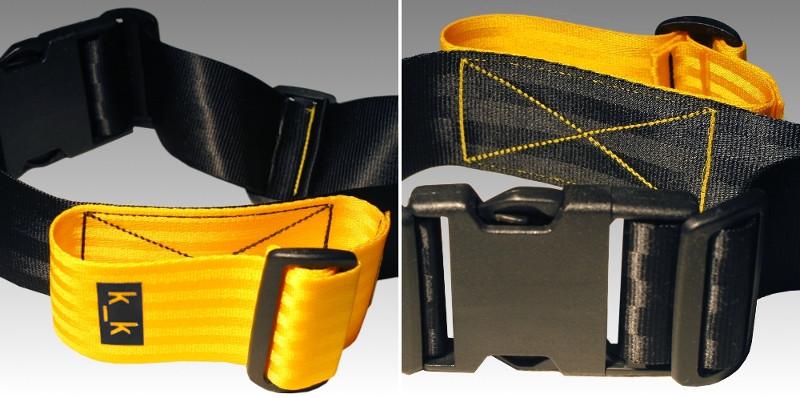 Schloßgürtel. Schwarz-gelb.