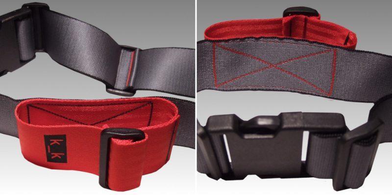 grau / schwarz / rot.