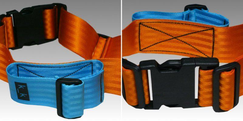 orange / himmelblau / schwarz.