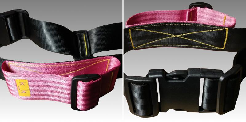 schwarz / rosa / gelb.