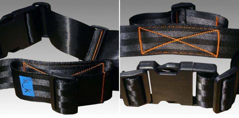 schwarz / orange / himmelblau.